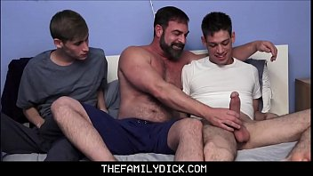 Jock Step Son And Twink Step Son Learn Family Sex From Bear Step Dad