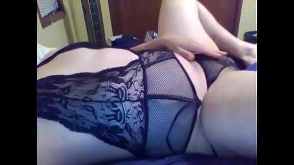 Masturbating in lingerie