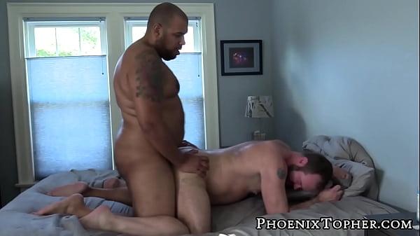 Ursine homosexual bent for bareback after sucking dick